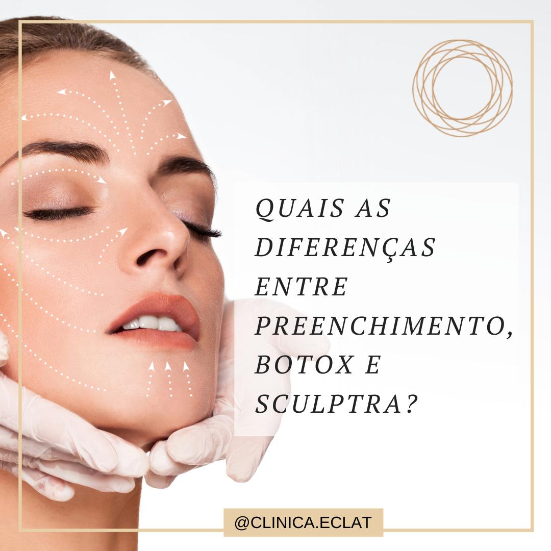 Quais as diferenças entre Botox, Preenchimento e o Sculptra?